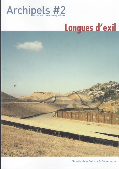 Archipels n°2 Langues d'exil
